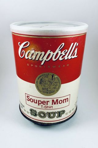 Vintage 1980's Campbell's Sportswear Souper Mom Tshirt In Can - Xxl