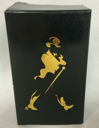 Vtg Johnnie Walker Advertising Whiskey Bottle Cork Stopper To Good Fortune Nib