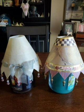 Mackenzie Childs Vintage Candle Shades W 6 Followers