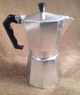 Vintage Junior Express Cast Aluminum Stovetop Espresso Maker,  Made In Italy