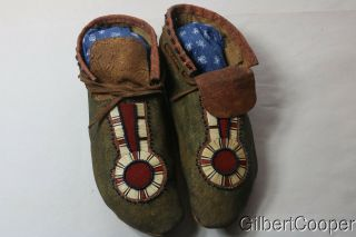 Beaded And Quilled Sioux Moccasins