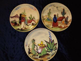 Jesus Galan R.  Mexican Pottery Hand - Painted On Bauer Bisque Ware