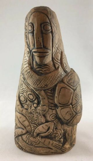 """Bolivia Andean Culture Hand - Carved Stone Figure Pachamama Mother Goddess 6.  25 """""""