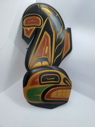 Spectacular Northwestern Aboriginal American Art Carved And Painted Killer Whale