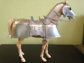Valor Silver Armored Knight Horse (complete Armor) Vintage Louis Marx Toy