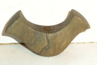 Early Man 4 1/8 Inch Banded Slate Banner Stone Indian Artifact
