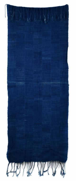 Indigo Dyed Textile Handwoven Old Cloth African Art