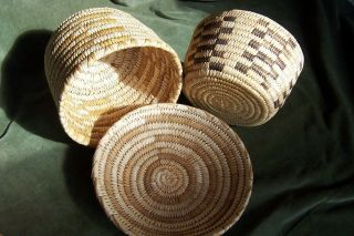 Native American Indian Baskets (3) Pima - Papago - Arizona -