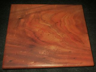 "Hawaii Vintage Solid Hawaiian Koa Wood Display Stand 12 1/2 "" X 14 "" X 2 1/2 """