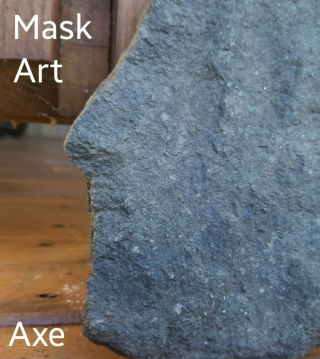 Mask Face Effigy Axe Native Paleo Indian Artifact Celt Windham Co Ct Bannerstone