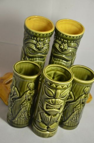 Vintage Hawaii Tiki Mugs - (2) Nyc Hawaii Kai,  (3) Hula Girl Orchids Of Hawaii