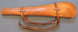 """ Padgitt Bros/dallas,  Texas "" Leather Carbine Saddle Scabbard With Straps"