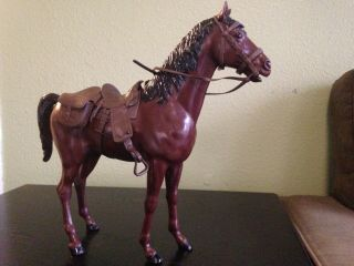 Thunderbolt Johnny West Horse Brown (complete Tack) Vintage Louis Marx Toy