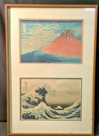 Red Fuji And Great Wave Off Kanagwa Designed By Katsushika Hokusai