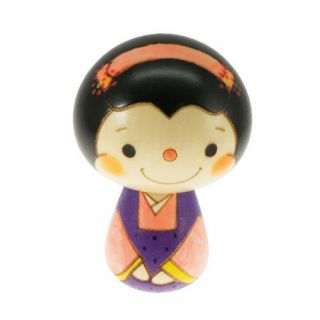 Japanese Nippon Usaburo Kokeshi Doll Lucky Charm Ofuku San 70mm Made In Japan