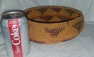 Vintage Southwestern American Indian Coiled Basket
