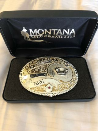 "Champion Man Tool Ranchers Large (5 "" X 4 ""),  Montana Silversmiths Belt Buckle"