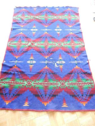 Antique Vintage Pendleton Reversible Trade Blanket Indian Western Cowboy