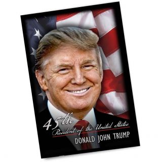 45th President Of The United States Donald Trump 4x6 Inch Magnet